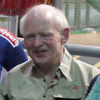 Photograph of Ken at the Velodrome