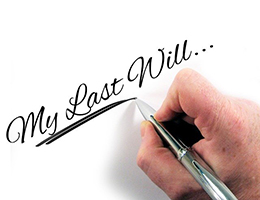 Photograph of someone writing the words My Last Will. Image by Gerd Altmann from Pixabay