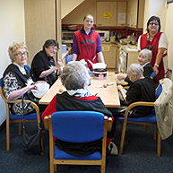Photograph of SRSB clients in the Cookery Group
