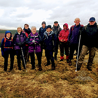 Photograph of group on Kinder Scout