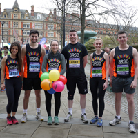 Photo of some previous half marathon runners just before the race