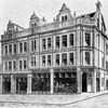 Old drawing of the building on West Street