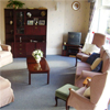 Photo of current lounge area at Cairn Home for elderly blind people