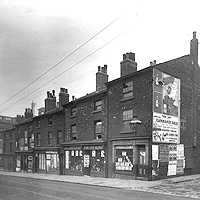 Old photograph of building on West Street