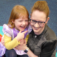 Photogrpah of mum and daughter at SRSBs Little Sparklesr Group