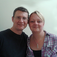 Photograph of Dave and Pip