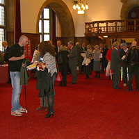 Photograph of people at 2012 event in Town Hall