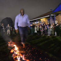 Photogrpah of someone doing a Firewalk
