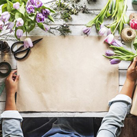 Photo of a flower arranger