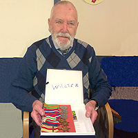 Photograph of Walter with his medals