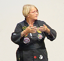 Photo of Sandra doing Tai Chi