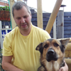 Alan pictured with his guide dog