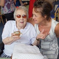 Photo of Rose when we celebrated her 100th birthday at SRSB