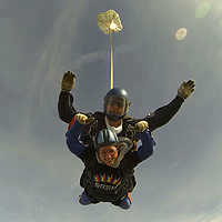 Photograph of previous Skydive participant