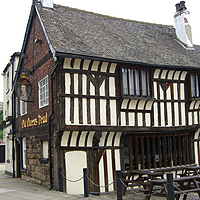 Photo of the exterior of the Old Queens Head