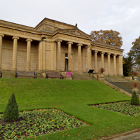 Photo of the Weston park Museum with the park in front