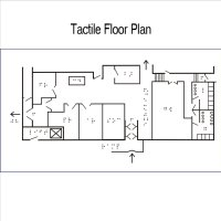 Photo of tactile floor plan