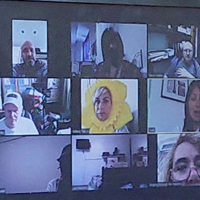 Photo of people in a Zoom meeting